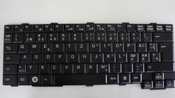 Fujitsu QWERTY Keyboard Lifebook P770 P8110 DK NO SE FI CP455616-01 V A #32