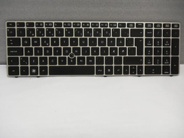 HP QWERTY Keyboard EliteBook 8560P 8570P 6560B 65B DK 641181-081 V B #25