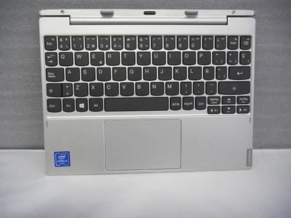 Lenovo QWERTY Keyboard IdeaPad MIIX 320 10ICR ES silver 5N20P20536 V B %22