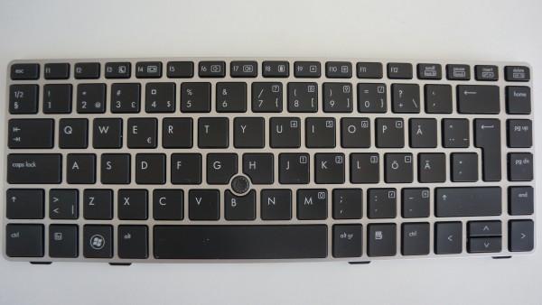 HP Elitebook 8470p Keyboard SPS686299-B71 Layout SWE/FIN A-Ware