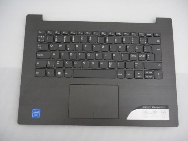 Lenovo QWERTY Keyboard IdeaPad 320s ND DK NO SE FI black grey SN20M61887 V B %10
